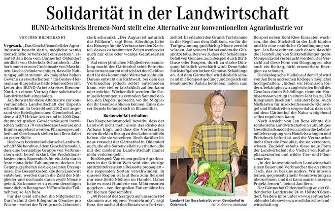 SoLawi in Die Norddeutsche