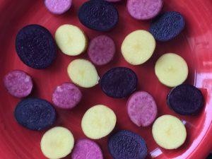Gelbe, Rote und Blaue Kartoffeln